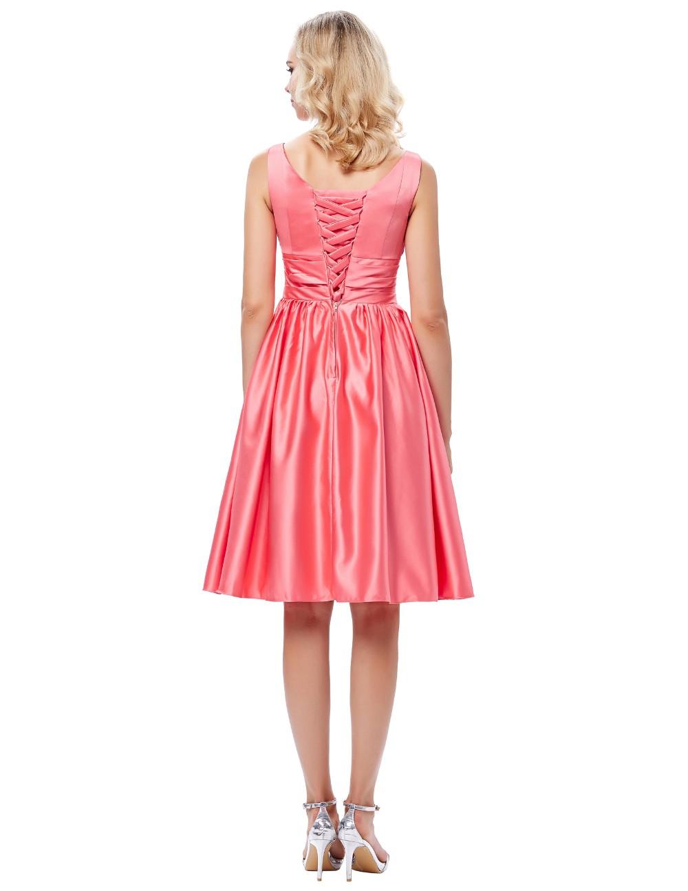 Grace karin vestido corto de baile vestidos de satén sin mangas ...