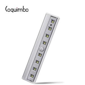 Image 1 - Coquimbo Luce Del Sensore di Movimento 8 Led a Batteria Senza Fili di Movimento Magnet Portatile Armadio Luci Notturne per Corridoio Scala