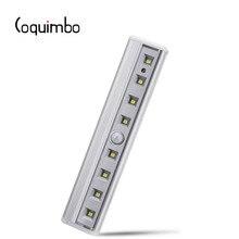 Coquimbo için hareket sensörlü ışık 8 LEDs pil kumandalı kablosuz hareket taşınabilir mıknatıs dolap gece ışıkları koridor merdiven