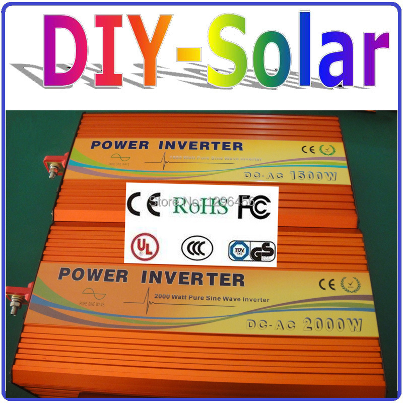 solar 2000W 48V to 110V 220V Power Inverter, 2000W Off Grid Pure Sine Wave Inverter for Solar/Wind/Car Home Use solar System