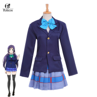 Free Shipping Japanese Anime Love Live Tojo Nozomi Love Live School Uniform Cosplay Costume Top Skirt