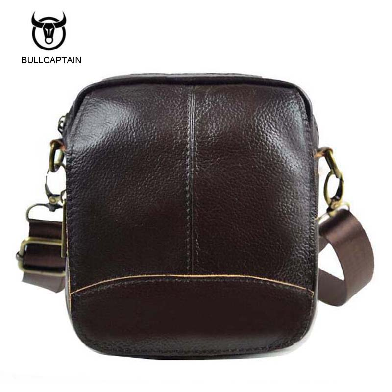 Bullcaptain 2017 Vintage Genuine Leather Bags Waist Packs For Men Belt Waist Bags For Men Casual Fashion Brand Business Bag vintage bags real genuine leather cowhide men waist pack pouch for men leather waist bag outdoor travle belt wallets vp j7144