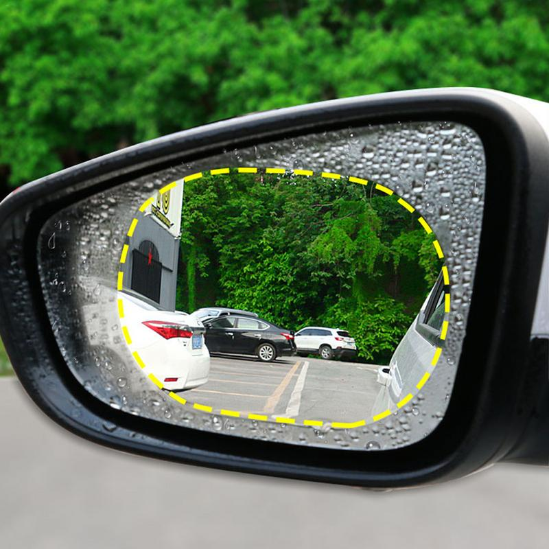 2Pcs/Set Car Rearview Mirror Waterproof Anti-Fog Rain Proof Film Side Window Glass Film  Rear View Mirror Protective Protective
