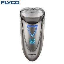 FLYCO профессиональный Электробритвы для Мужчин Водонепроницаемый Аккумуляторная Бритва СВЕТОДИОДНЫЙ Дисплей Питания 1 Часовая Быстрая Зарядка 220 В FS858