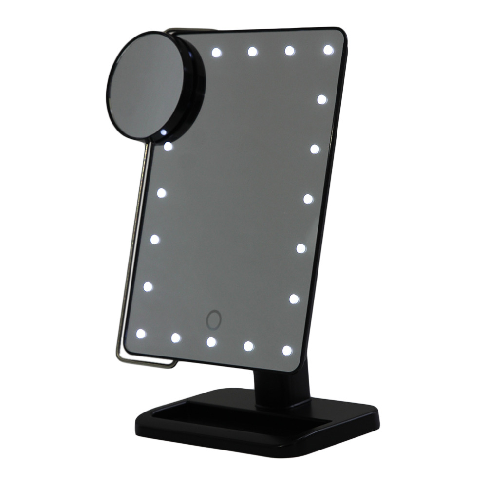 Magnifying MIrrors Cosmetic Makeup Mirror With Power Locking Suction Cup Bright Diffused Light 360 Degree Rotating 20 LEDs Light makeup mirror with 16 leds 10x magnifying portable desktop travel mirror wall suction mounted 360 degree rotation round mirror