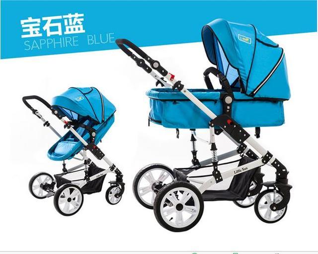 2016 Nuevo diseño de Lujo del cochecito de bebé, 6 colores cuatro ruedas solo asiento, puede dormir, capacidad,