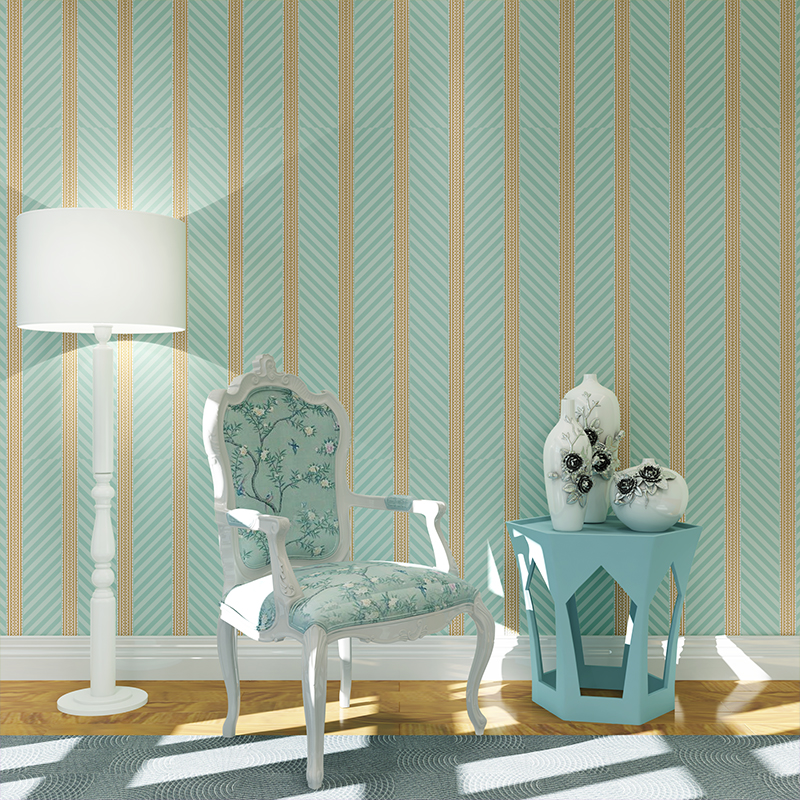 beibehang Wallpaper green Stripe Wall Paper Papel de Parede damask Wall Paper for Bedroom living Room TV Sofa Background sticker beibehang papel de parede brown yellow stripe background wall wallpaper for tv bedroom living room fine decor pvc vinyl wall
