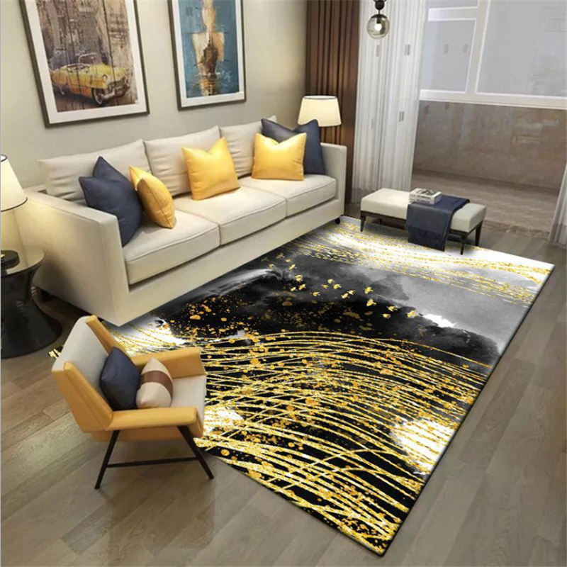 Rugs And Carpets For Home Living Room Nordic Abstract Ink