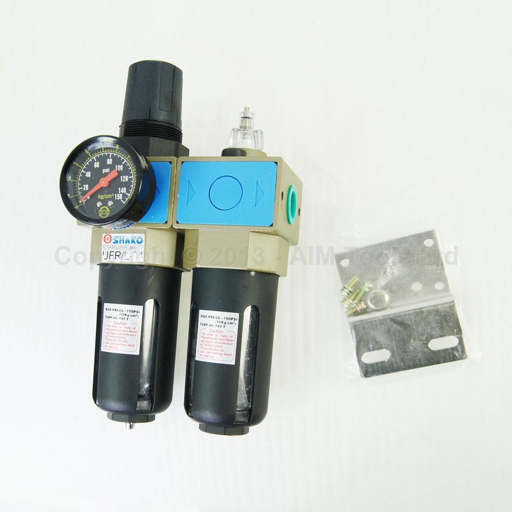 # Industrial Quality Air Filter Moisture Water Trap Oil Lubricator 1/2
