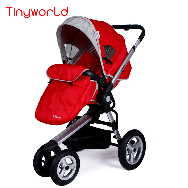 High landscape baby stroller with foot cover, rubber wheel baby carriage of good shock absorption, baby pram with adjust handle hot selling baby stroller ultra spring shock absorption baby pram sgs was approved