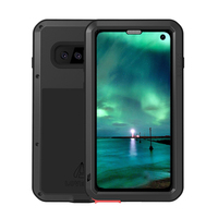 Heavy Duty Shockproof Case for Samsung Galaxy A9 S9 S10 S10 Plus Note9 Metal Aluminum Armor Phone Cases + Glass Screen Film