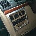 Chrome Interior Interruptor Dos Faróis Decoração Capa Para Toyota Land Cruiser 200 FJ 200 Acessórios