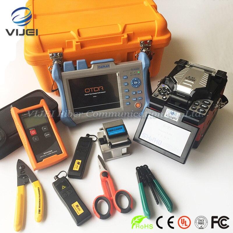 X97 Fiber Optique Fusion Colleuse + VFL + Optique Power Meter + Optique Laser Source + Kevlar Ciseaux + KING96 OTDR 120 km