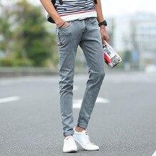 Низкий сезон молодежные мужчины в новые тонкие джинсы брюки 9201 корейский стиль slim fit 2016 новых прибытия джинсовые брюки(China (Mainland))