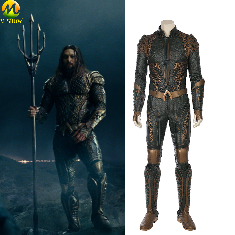 Justice League Aquaman Cosplay Costume Arthur Curry Cosplay Costume Halloween Adult Men Cosplay Full Set Custom Made