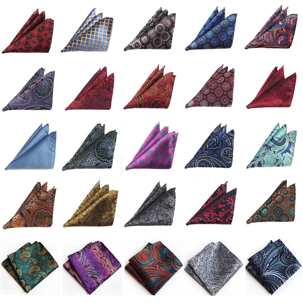 Men's Stylish Floral Paisley Handkerchief Wedding Party Hanky Pocket Square HOT HZTIE0262