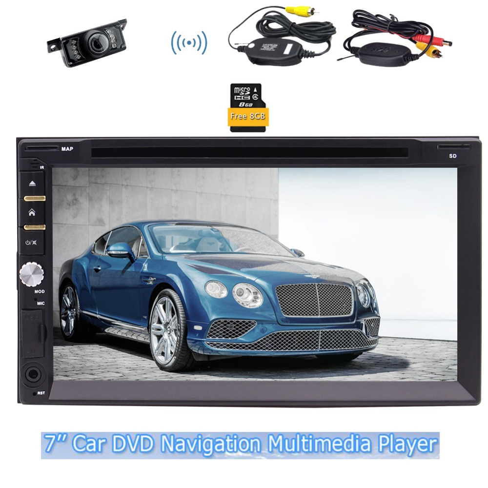 EinCar GPS Car Stereo FM AM Radio GPS Navigator SWC USD SD Panel Beautiful UI Design Remote Control Map Card+Wireless camera