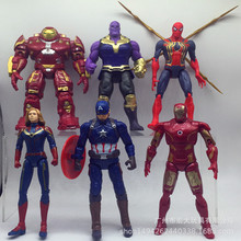 6pc/set Marvel Avengers Super Hero Action Figure Surprise Captain American Spiderman Thor Iron Man Collectible Toys Gift