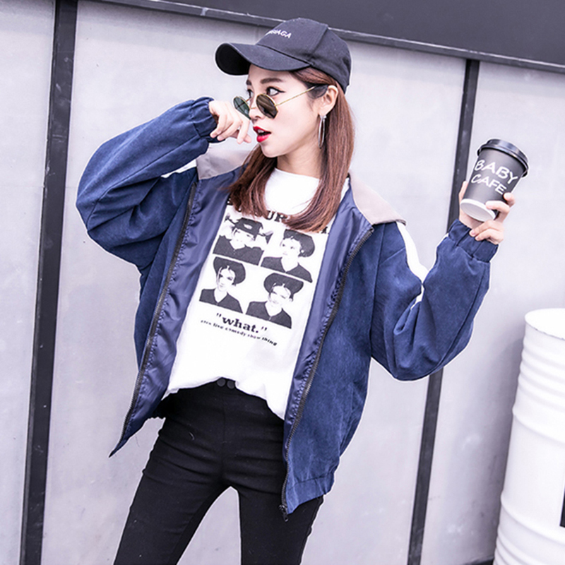 2019 Autumn Jacket Womens Streetwear Patchwork Hooded Totoro Jackets Kawaii Basic Coats harajuku Outerwear chaqueta mujer 45