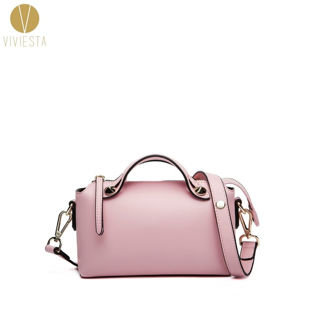 REAL LEATHER MINI BOSTON SHOULDER BAG - Women s Inspired Famous Brand Fashion  Luggage Work Bowler Tote bdc328c2de