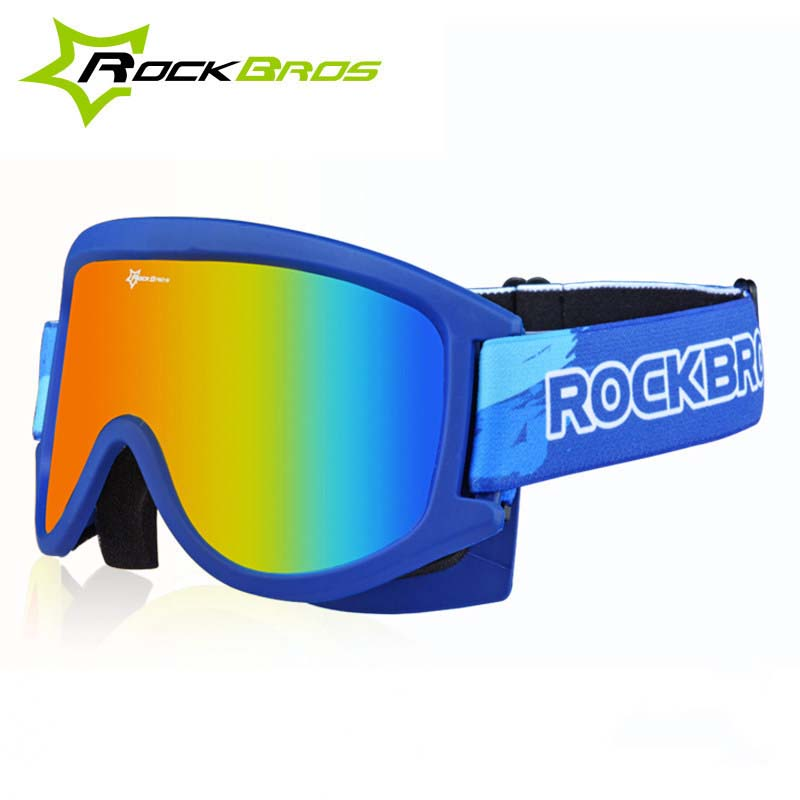 79d07625a51 Rockbros Brand Ski Goggles Double layer PC Lens UV400 Anti fog ...