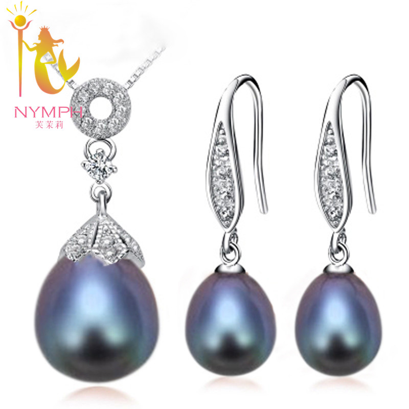 NYMPH natural pearl jewelry sets, prue freshwater pearl fine jewlery party gift for women[TZ1034 ] Ювелирное изделие