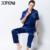 XIFENNI Hombre Pijamas de Satén de Seda Pijama de Verano de Manga Corta Bordado ropa de Noche de Seda de la Emulación Masculina Pijama Fijó 3312
