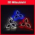 car emblem light 5d for GALANT  Lancer LIONCEL-04 Zinger ASX CUV 5D Logo Light mitsubishi led badge sticker light