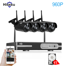 Hiseeu Drahtlose CCTV System 1080 P Wireless NVR 4ch 1.3MP Ip-kamera wasserdichte außen P2P Hauptsicherheitssystem Überwachungssets