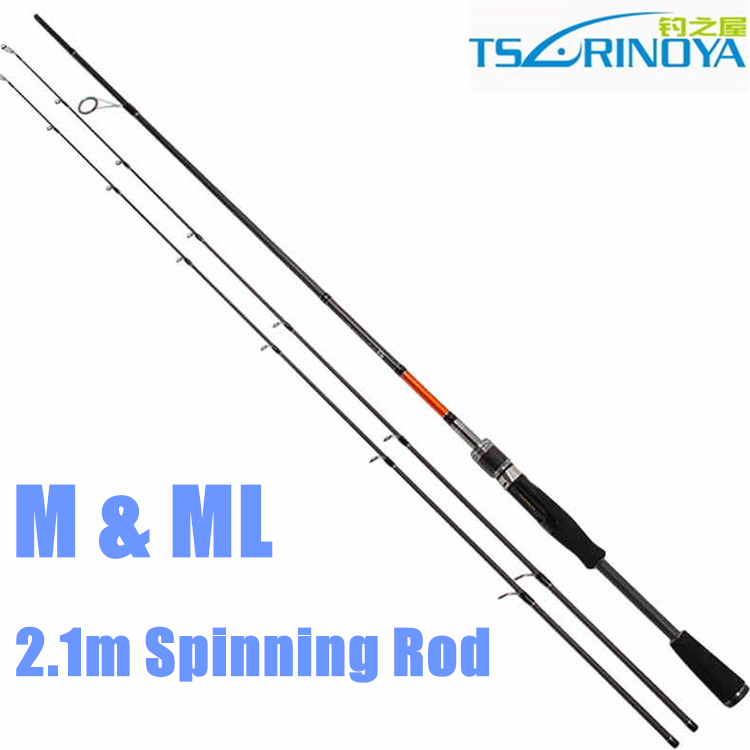 ФОТО Free Shipping Trulinoya Joy Together 2.1m M / ML Two Tips Spinning Rods 2 Section Carbon Fishing Rod
