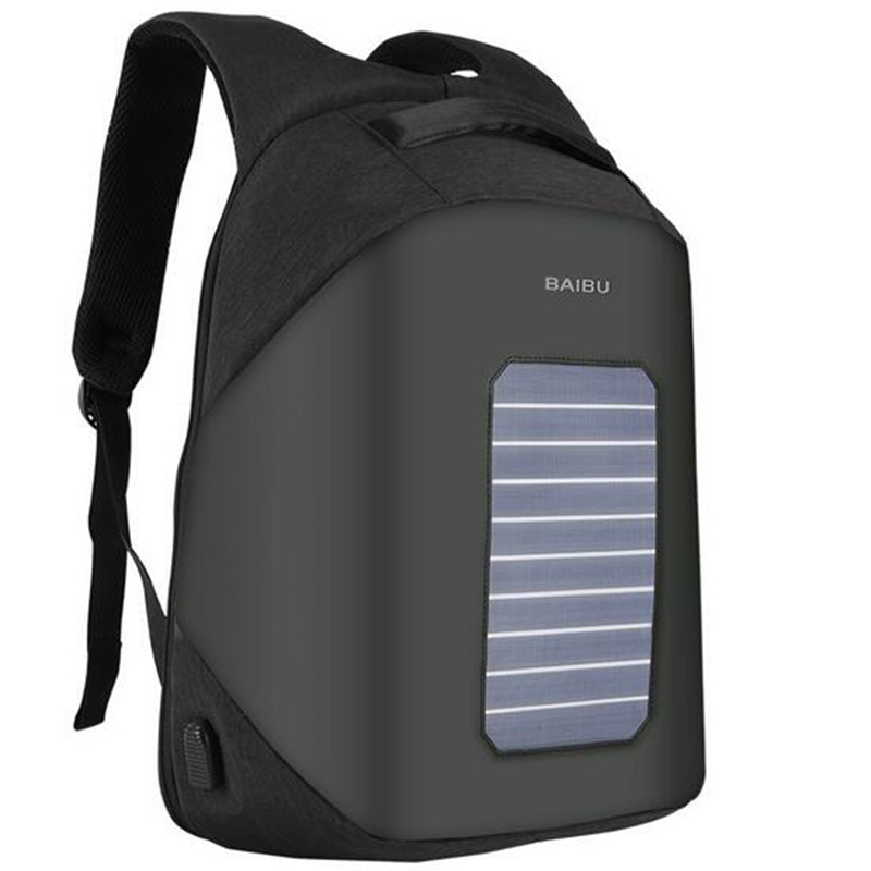 BAIBU Solar Charging Men Backpack Business Women Travel Bags Anti-theft USB Charge 15.6 inch Laptop Backpack For Teenager 420vac spd 40 80ka 4p surge arrester protection device electric house surge protector lightning protection b