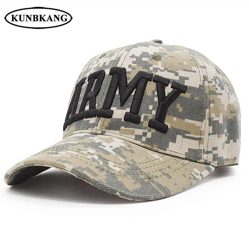 0ce641100d87e US Army Camo Baseball Cap USAF POLICE Men Tactical Snapback Hat Dad Bone  Outdoor USA Flag