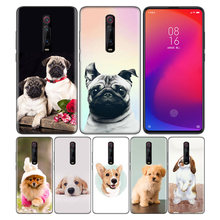 Phone Pattern Black Rubber Soft Silicone Case Bag Cover for Redmi 7A Note 7 6 7S Y3 K20 Pro Core Shell Cute Puppy Pug Bunny Cat(China)