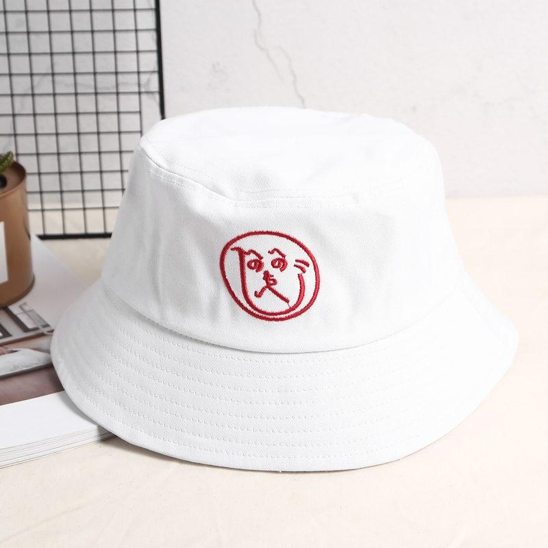 2018 neue Brief Stickerei Eimer Hut Fischer Hüte Männer Frauen Äußere Sommer Straße Tänzerin Baumwolle Panama Outdoor Gorro Hüte R