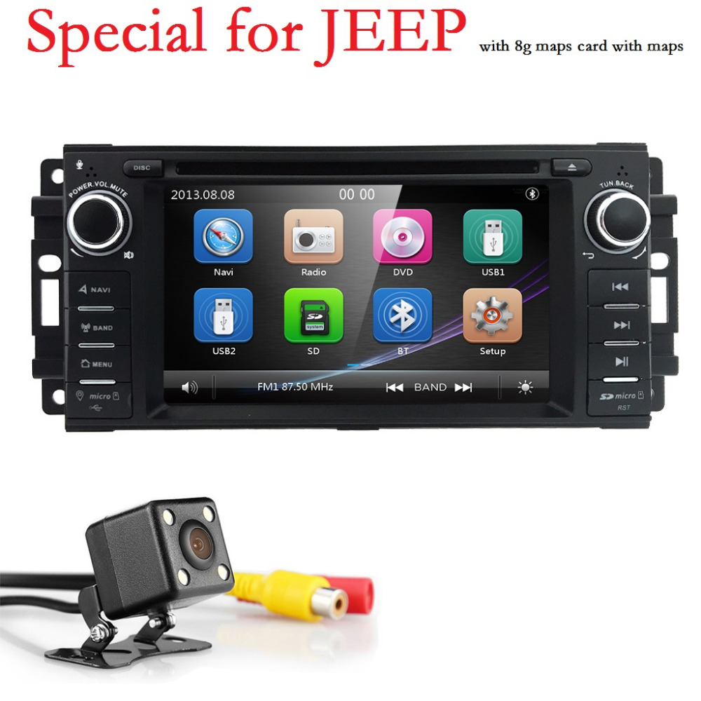 1 Din AutoRadio Car DVD For jeep Compass Grand Cherokee Chrysler 300 c Dodge/RAM Wrangler 2006-2015Head Unit Audio Tape Recorder loreada throttle body 4861661aa 4861661ab for jeep grand cherokee liberty dodge dakota nitro ram 1500 3 7l 3 8l