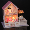 Diy House Pink Cherry Blossom Princess Villa DIY Building Model Girlfriend Creative Birthday Gift Doll Intelligent Toys