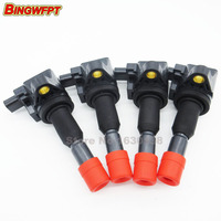 4PCS Lot Ignition Coils For Honda Jazz II 2002 2008 GD3 L15A 4Cyl 1 5L CM11