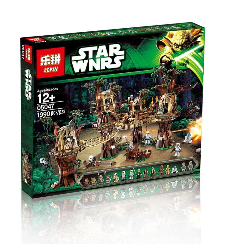2016 font b LEPIN b font 05047 1990Pcs Star Wars Ewok Village Model Building Kits Minifigure