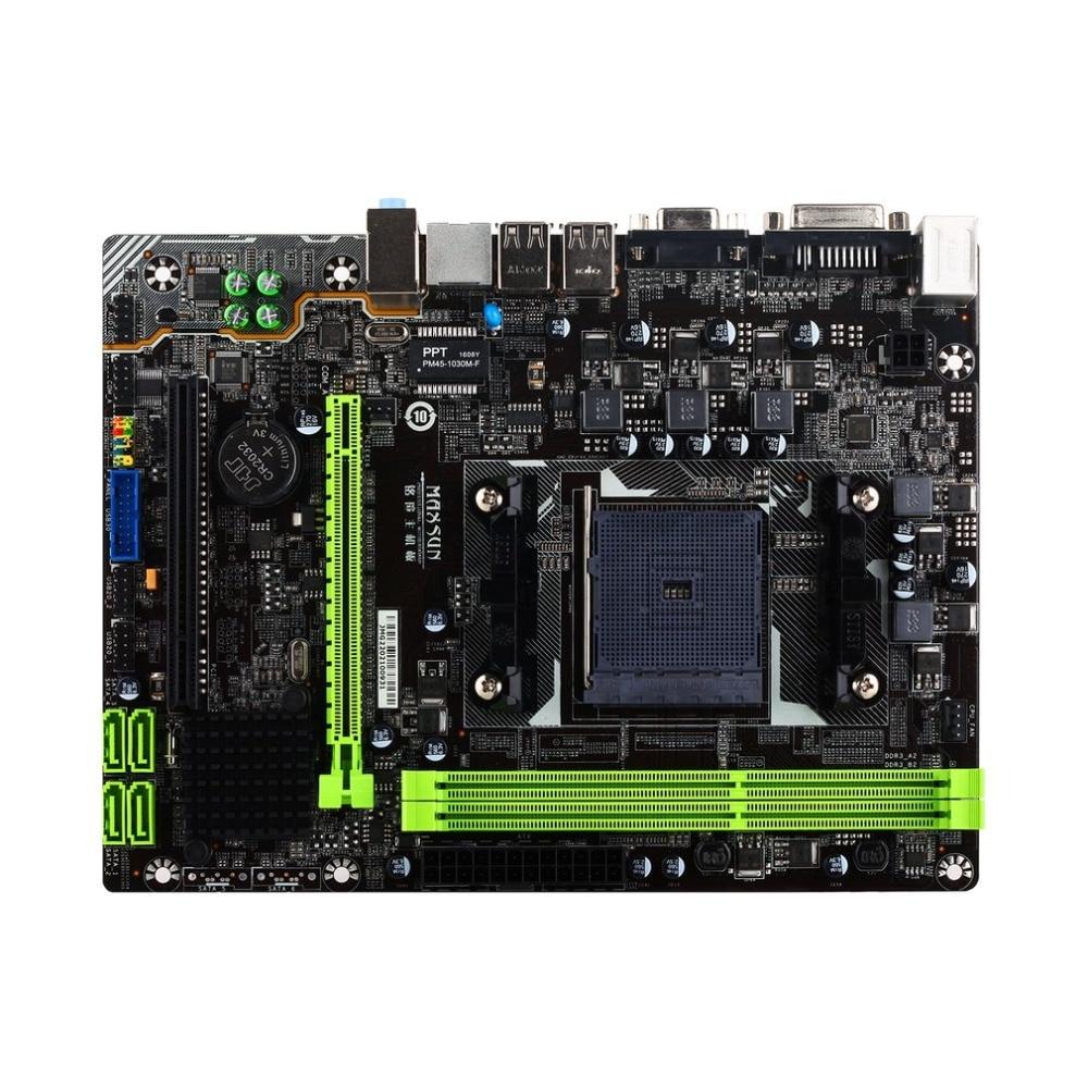 MAXSUN MS-A68GT + carte mère de jeu d'ordinateur carte mère de bureau pour AMD A68 FM2/FM2 + prise SATA USB 3.0 DDR3 mATX