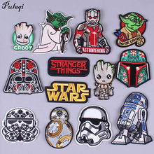 Pulaqi Ninja Turtles Star Wars Patches Sew On Clothes Iron-on Anime Clothing Badge Decor For T-shirt Patch Stripes H