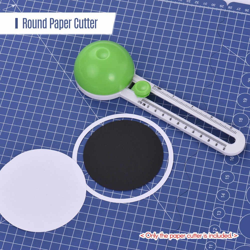 الروتاري دائرة القاطع مصغرة أوراق قابلة للنقل المتقلب قابل للتعديل دائرة ثقب القاطع أداة مع 2 شفرات قابلة للاستبدال للصور ورقة