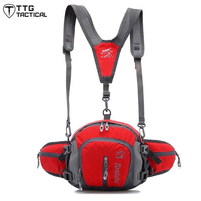 Waterproof  Multifunction Waist Bag Water Bottle Bag Unisex Shoulder Slung Bag Utility Waist Bag