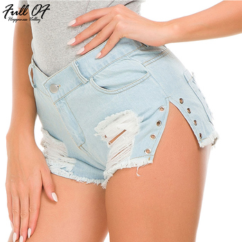 Sexy High waist shorts jeans woman befree fashion Hole beach skinny women jeans calca push up jeans Night club Party Bottom Hot sexy shorts jeans woman skinny hole befree women jean summer denim blue hot beach nightclub bottom calca jeans femme befree 2020