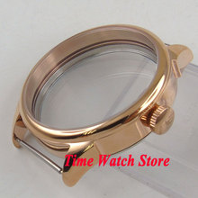 42mm watch case polished Gold plated fit ETA 6497 6498 hand winding movement C139