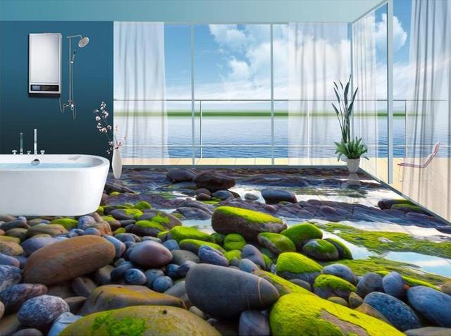 3d Pvc Fußboden ~ Benutzerdefinierte d bodenbelag farbige stein tapete d boden