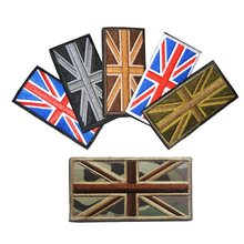 Embroidered BRITISH Flag Patch Union Jack England UK Great Britain UNITED KINGDOM FLAG APPLIQUE BADGE PATCH(China)