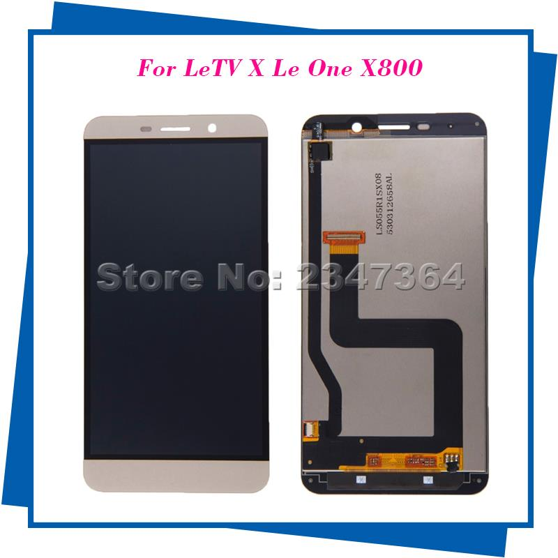 For Letv Le one Pro Phone Letv X800 LCD Display Touch Screen 5.5inch  best quality Digitizer Assembly Replacement for letv le1 pro x800 lcd display monitor touch screen digitizer glass sensor assembly replacement parts high quality