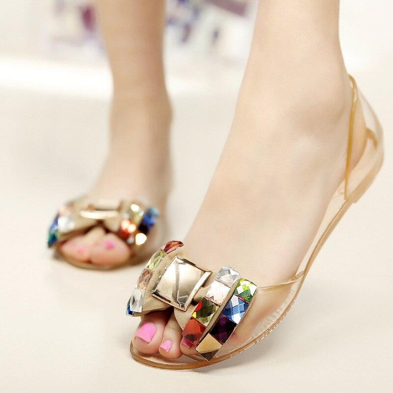 Summer Fashion Beach Sandals Women Flat Shoes Open Peep Toe