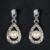 Collar Pendiente de La Joyería Para Las Mujeres de lujo Vestido de Boda de la CZ Diamante Simulado Perla de la Novia y Las Damas de Honor de La Vendimia Elegante D17