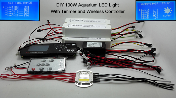 100w lumia 5.1 diy aquarium led light Sunrise Sunset Dimmable Led Aquarium Light 100W Remote Auto Dim Coral Reef Led Lighting wake up light sunrise simulation alarm clock with sunset